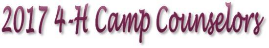 4-H Camp Counselors
