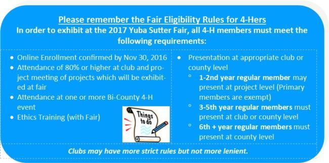 Fair Eligibility Rules 2017