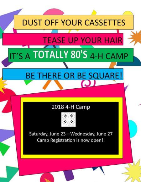 2018 4-H Camp
